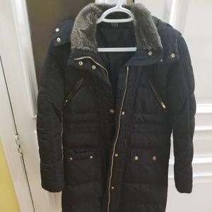 Zara girl feather puffer coat